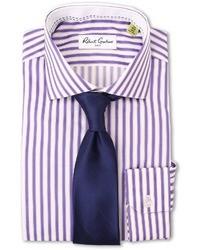 lila vertikal gestreiftes Businesshemd