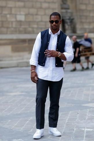 dunkelblaue ärmellose Jacke von Brooks Brothers