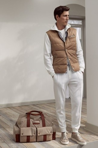 weißer Pullover mit einem Kapuze von Hilfiger Denim