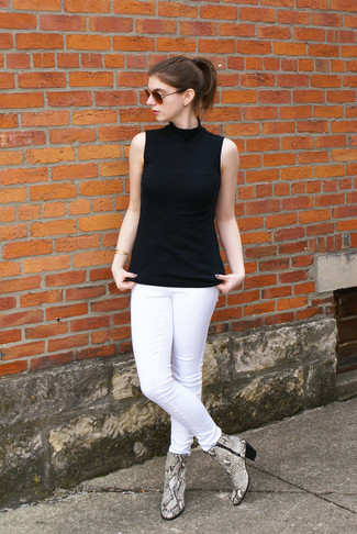weiße enge Jeans von Current/Elliott