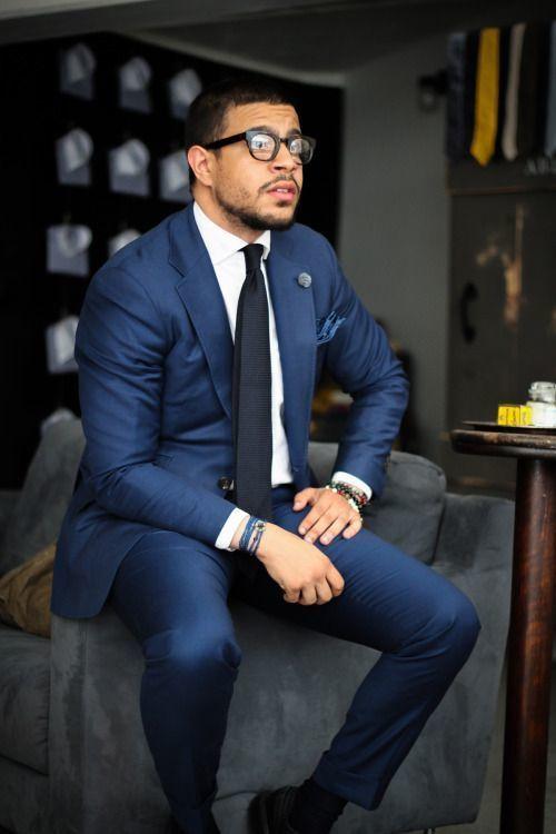 krawatte blauer anzug