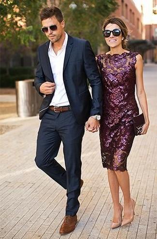 Wie Blauen Anzug Mit Brauner Leder Oxford Schuhe Zu Kombinieren 29