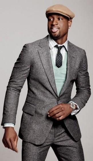 Anzug pullover mit v ausschnitt langarmhemd large 14198