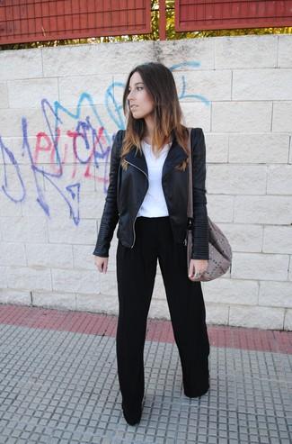schwarze weite Hose von Vero Moda