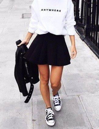 schwarze und weiße Segeltuch niedrige Sneakers von Regulation Yohji Yamamoto