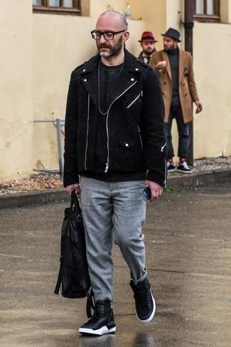 schwarze Jacke von SPRINGFIELD