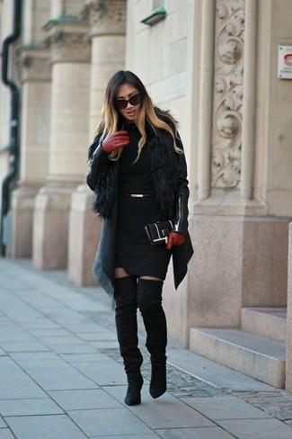 schwarze Leder Clutch von Valentino by Mario Valentino
