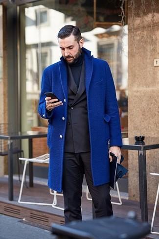 dunkelblauer Rollkragenpullover von Bally