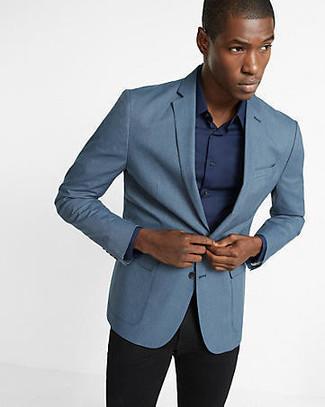 92eab0f03d41 Herrenmode › Herrenmode der 30er Jahre Vereinigen Sie ein blaues Sakko mit  einer schwarzen Anzughose für einen stilvollen, eleganten Look.