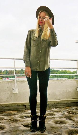 grüne bluse kombinieren