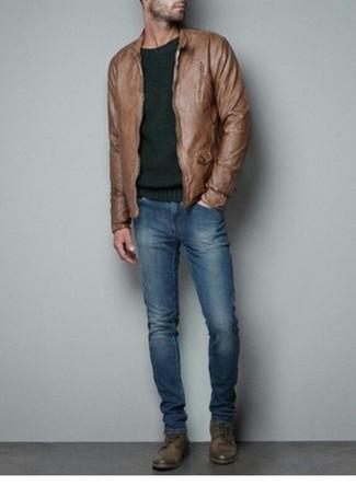 Lederoberteil Fur Herren Kombinieren Modetrends Und Outfits 430