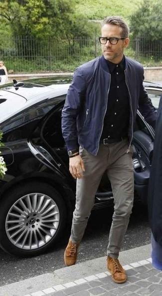 dunkelblaue Jacke von Lacoste L!VE