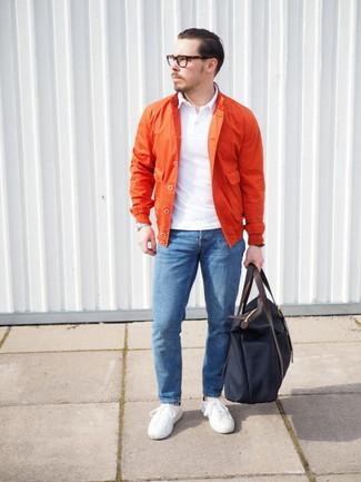 Orange jacke kombinieren