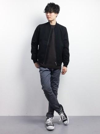 dunkelbrauner Pullover von Jack & Jones