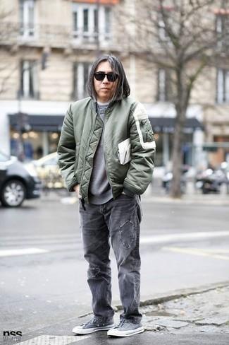 olivgrüne Jacke von Tommy Hilfiger
