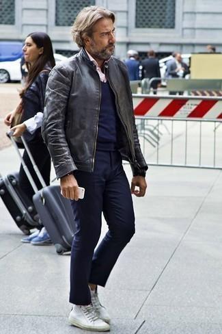 dunkelblauer Pullover von Benetton