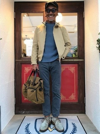 blauer Pullover von OZONEE