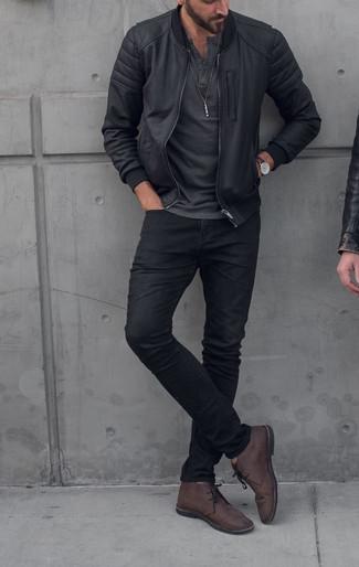 Schwarze hose outfit herren