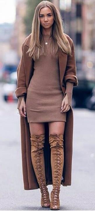 Damenmode Kombinationen 131 Braunen Für Kombinieren Mantel Damen WcFqZFwUB