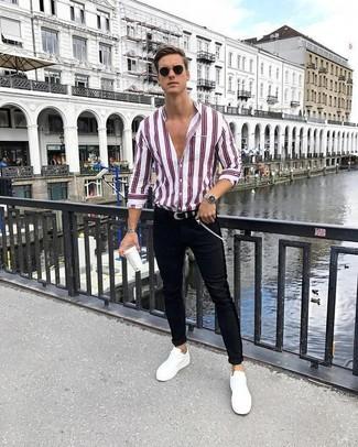 schwarze enge Jeans von Pier One