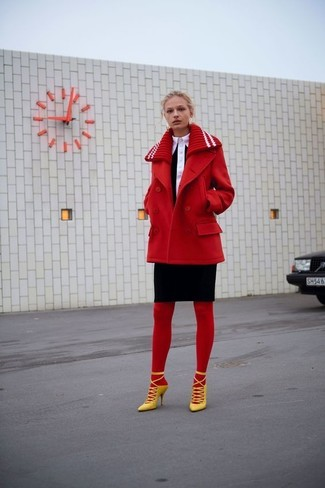 Rote Strumpfhose Kombinieren 16 Kombinationen Damenmode Lookastic