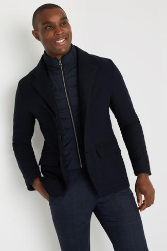 dunkelblaue ärmellose Jacke von BOLF
