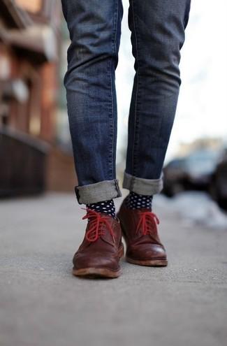Schwarze Und Weiße Gepunktete Socken Von Comme Des Garcons 43