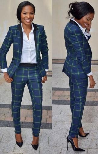 ab2a30e0fee9 Dunkelblauen Anzug für Damen kombinieren (6 Kombinationen ...