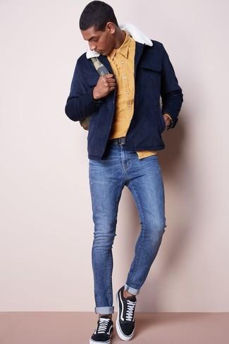 dunkelblaue Jacke von Strellson Premium