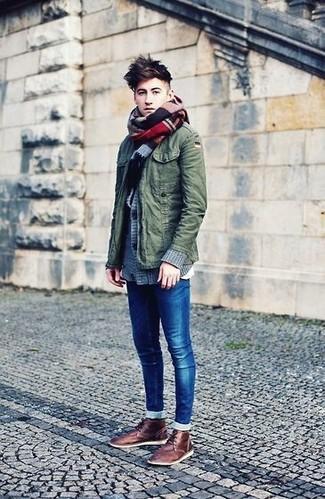 blaue enge Jeans von GARCIA