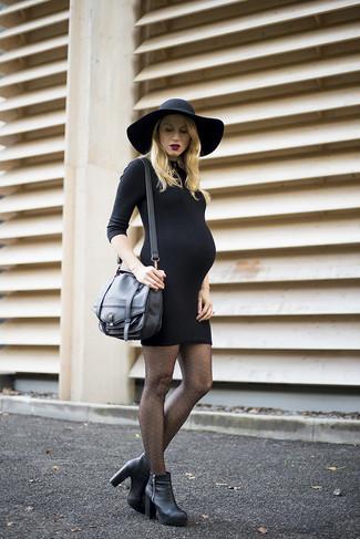 7d1a0b556ef16a Welche figurbetonte Kleider mit schwarzer Stiefeletten zu tragen (33 ...