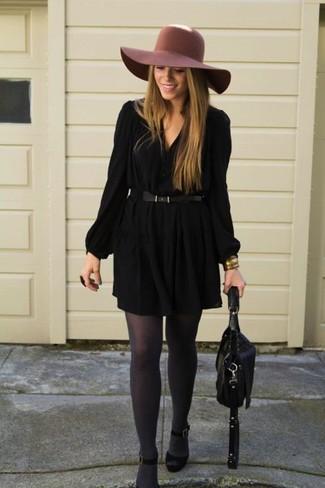 schwarze Satchel-Tasche aus Leder von Gucci