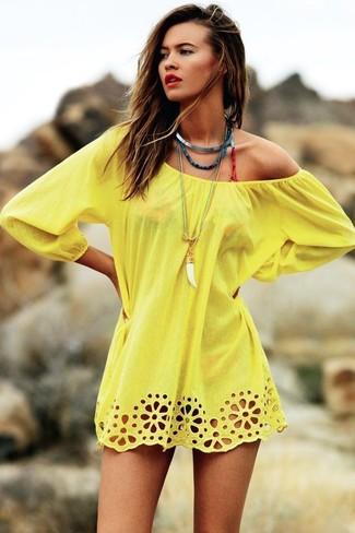 gelbes Strandoberteil von Onia