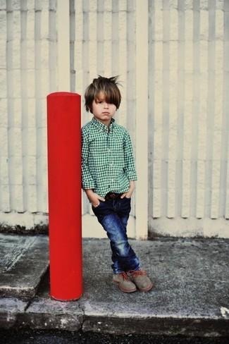 dunkelblaue Jeans von Il Gufo
