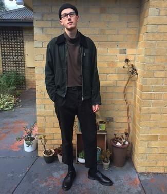 dunkelbrauner Pullover von Maerz
