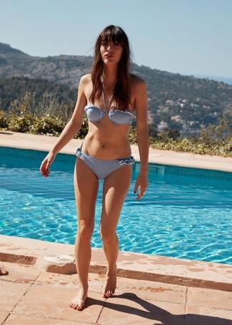 Wie kombinieren: hellblaues Bikinioberteil, hellblaue Bikinihose