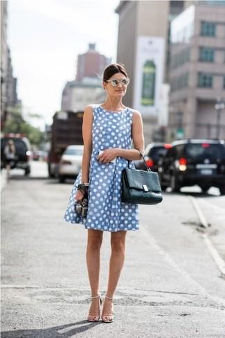 Hellblaues kleid tasche