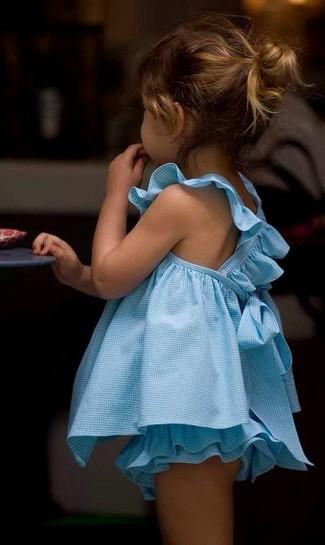 Wie kombinieren: hellblaues Kleid