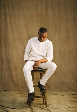 weißer Pullover von Hilfiger Denim