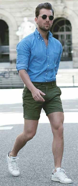 blaues Jeanshemd von Calvin Klein