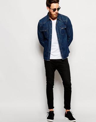schwarze jeans hemd hose fashion of fashion hosen in. Black Bedroom Furniture Sets. Home Design Ideas