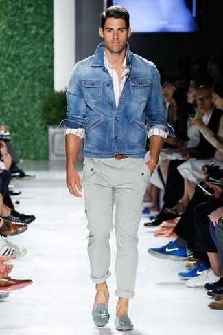 blaue Jeansjacke von Selected Homme