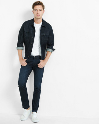 dunkelblaue Jeansjacke von s.Oliver