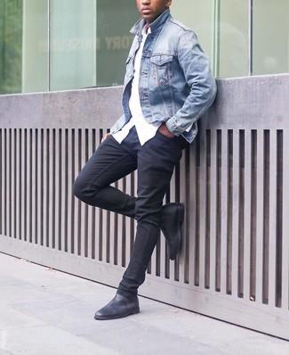 hellblaue Jacke von Tommy Hilfiger
