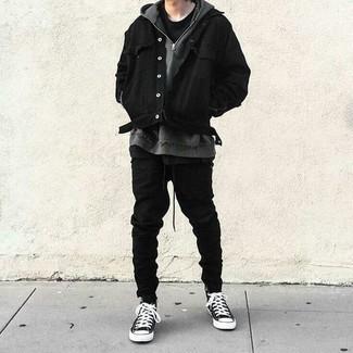 schwarze Jacke von Freaky Nation