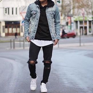 Jeansjacke outfit herren