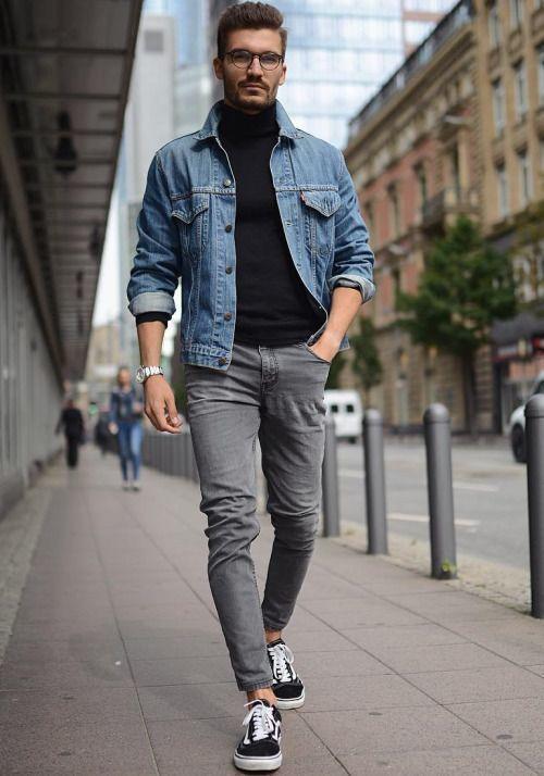 Schwarze jeansjacke kombinieren herren