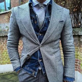 dunkelblaue Jacke von Hilfiger Denim