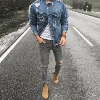 blaue Jeansjacke von Fear Of God