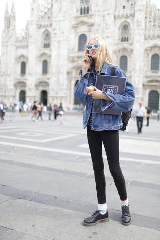 blaue Sonnenbrille von Marc Jacobs